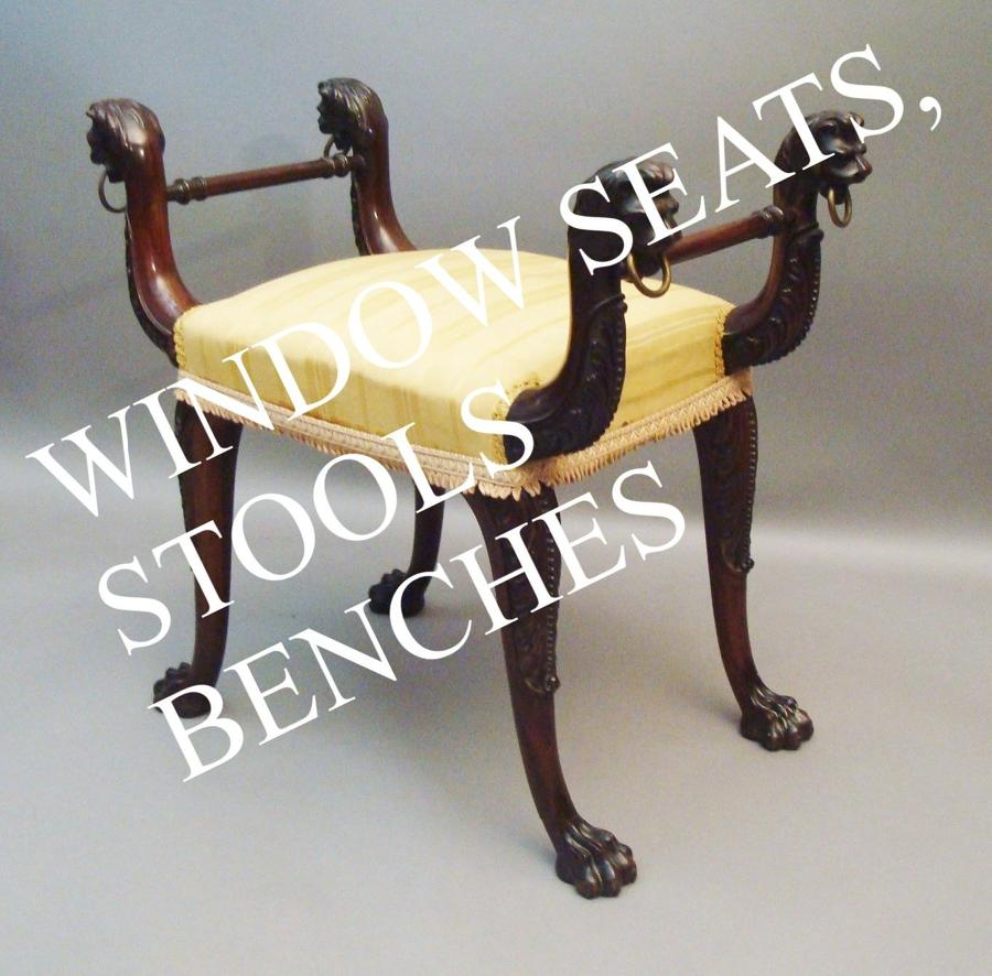 Window Seats, Stools, Benches