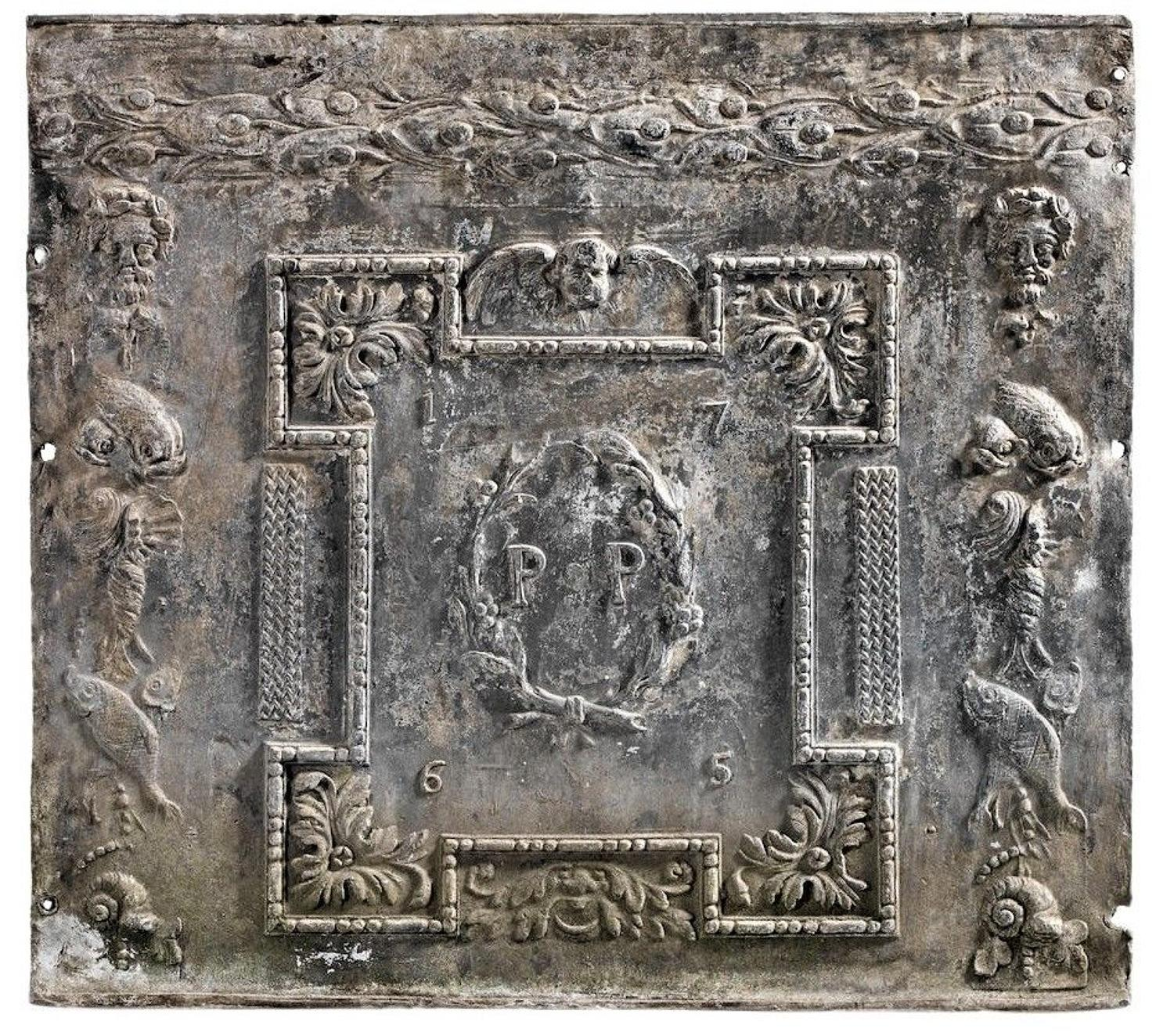 Georgian lead cistern panel