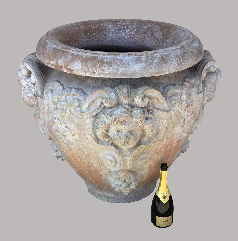 C19th large terracotta Doulton urn