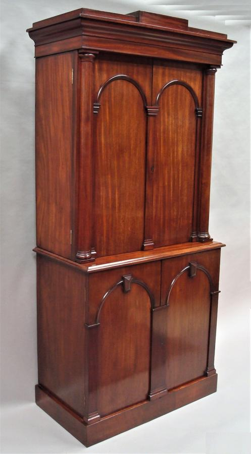 George IV mahogany fitted library cabinet