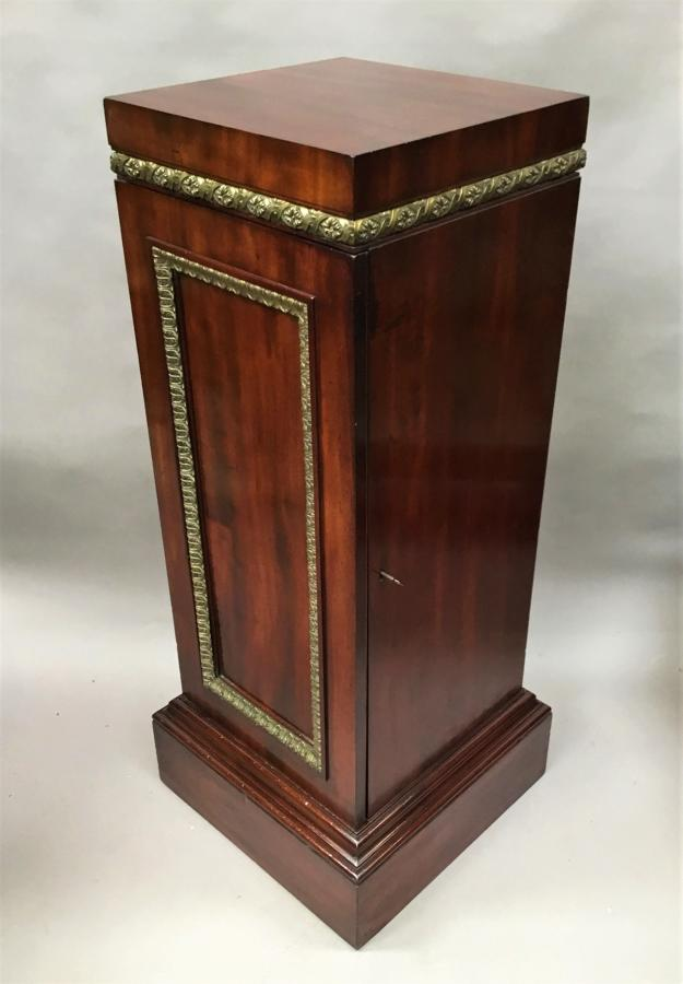 Regency neoclassical pedestal cabinet