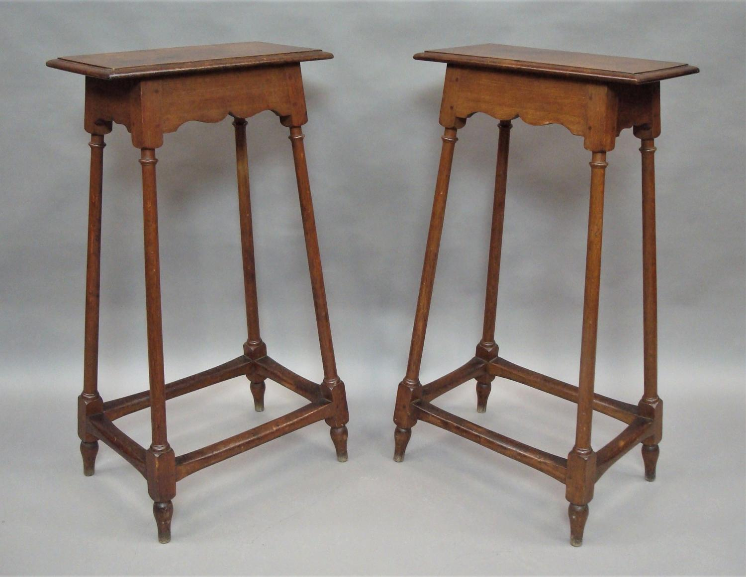 C19th pair of oak tables