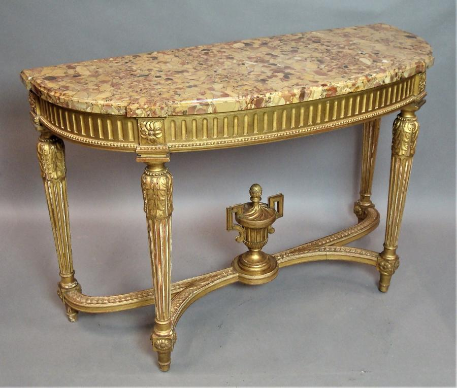 20th Giltwood Console Table