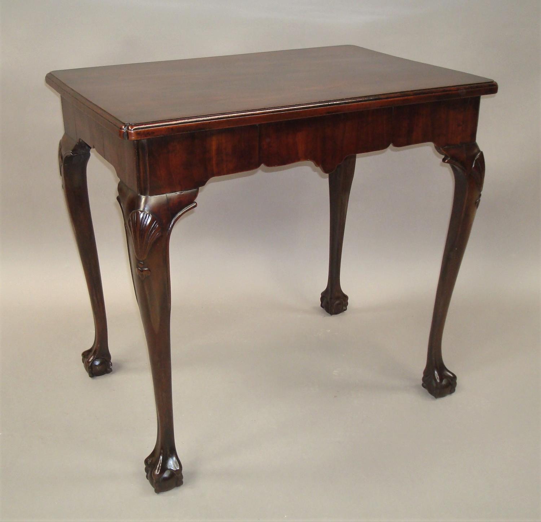 George II mahogany Irish centre table