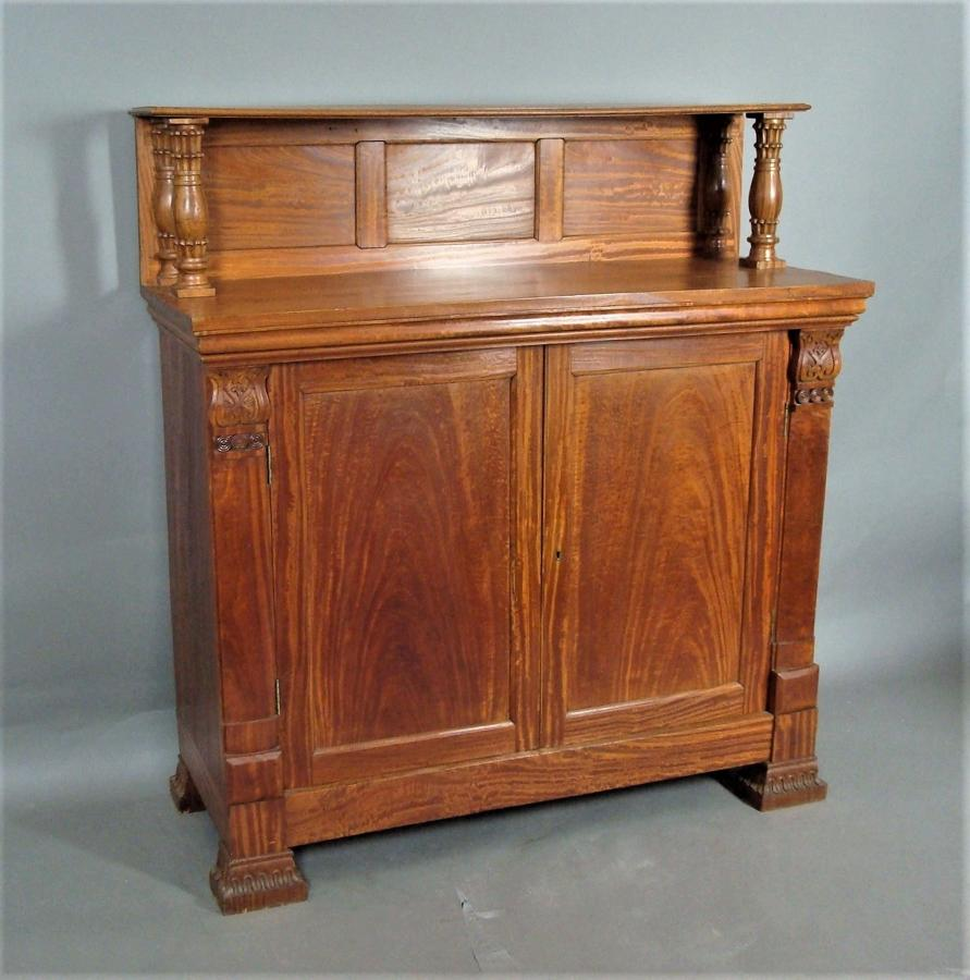 C19th Anglo Indian solid satinwood chiffonier