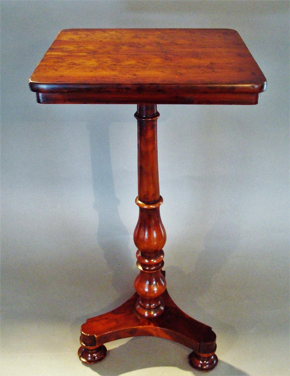 Regency yew wood occasional table