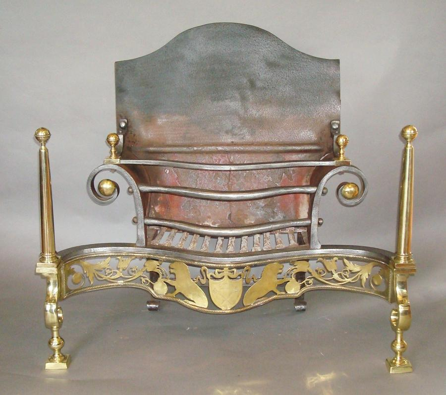 C19th large firegrate
