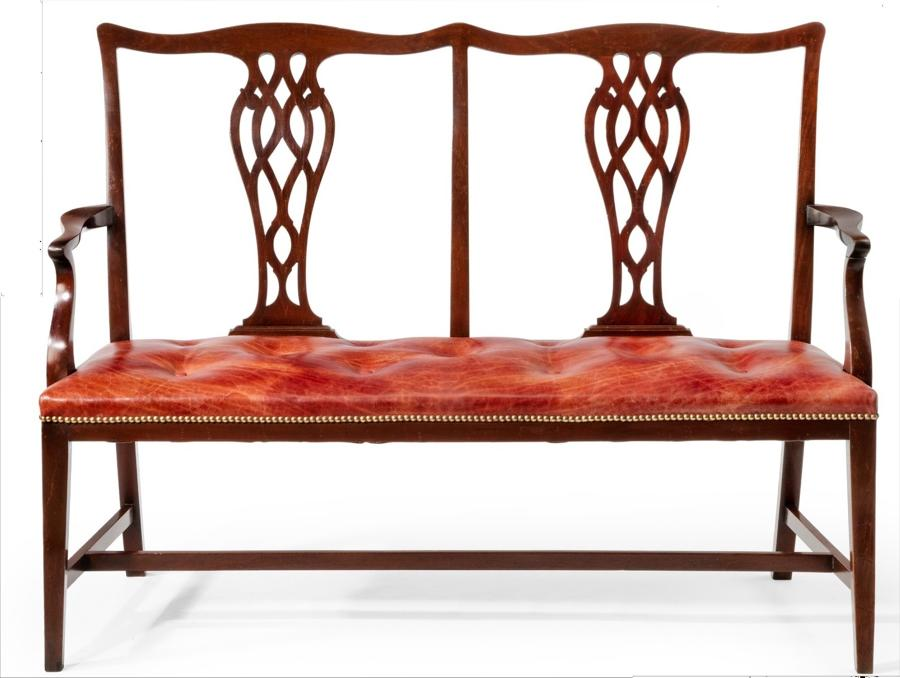 C19th mahogany chair back settee