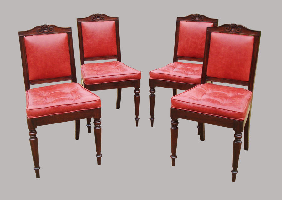 Regency set of 4 mahogany side chairs