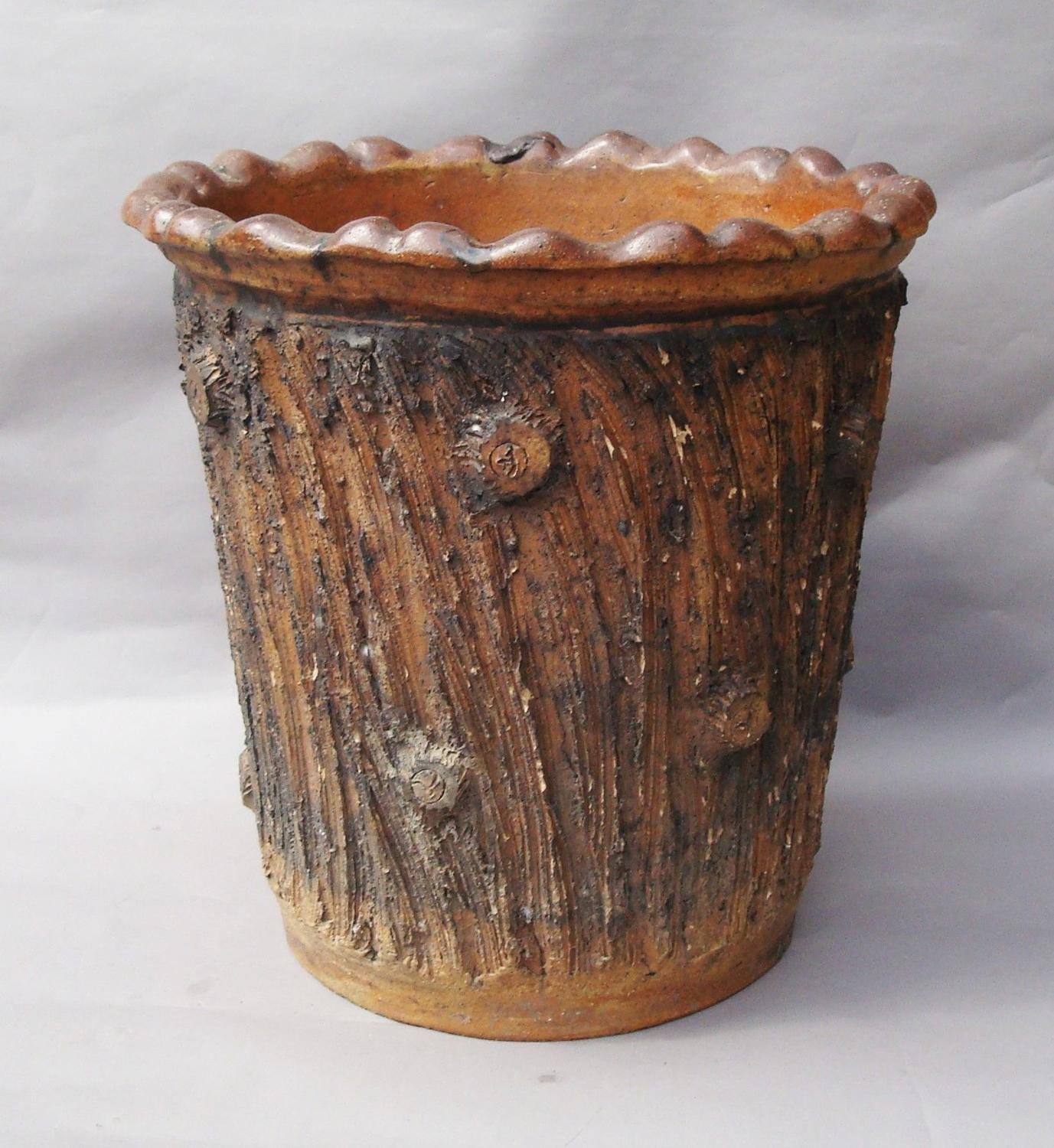 C19th bark pattern jardiniere