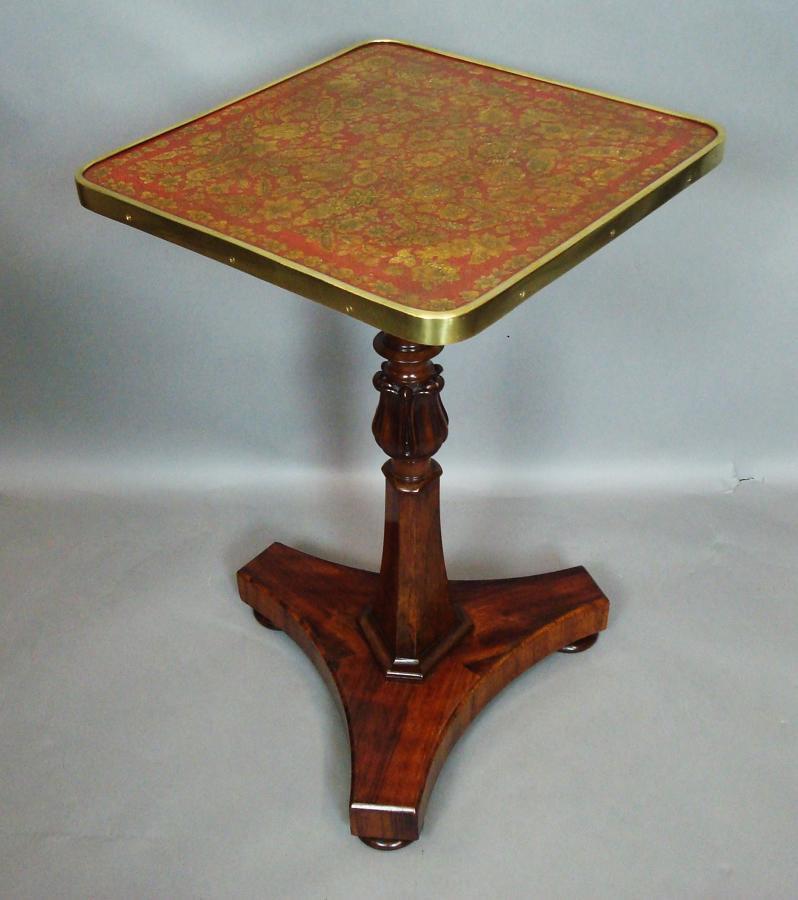 Regency rosewood / penwork occasional table