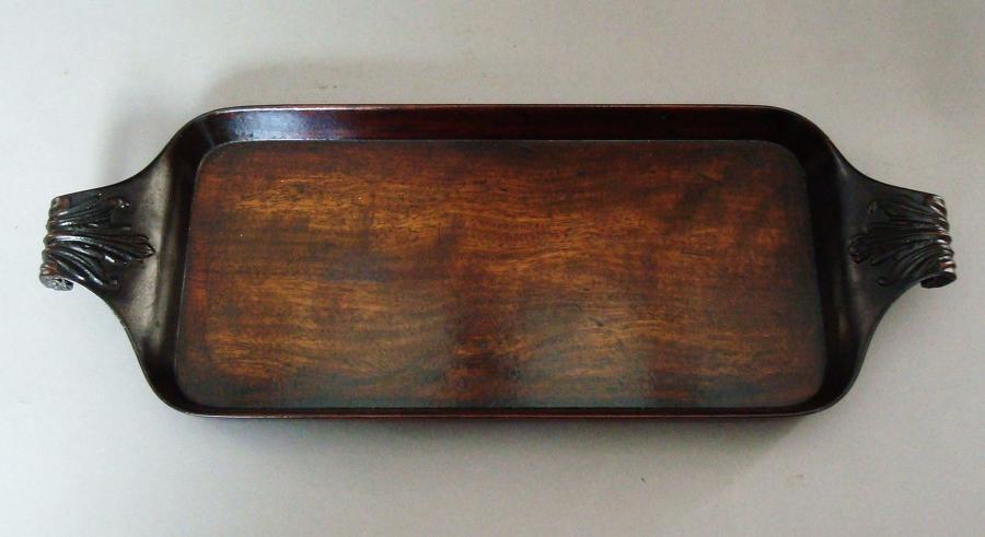 George III carved mahogany tray