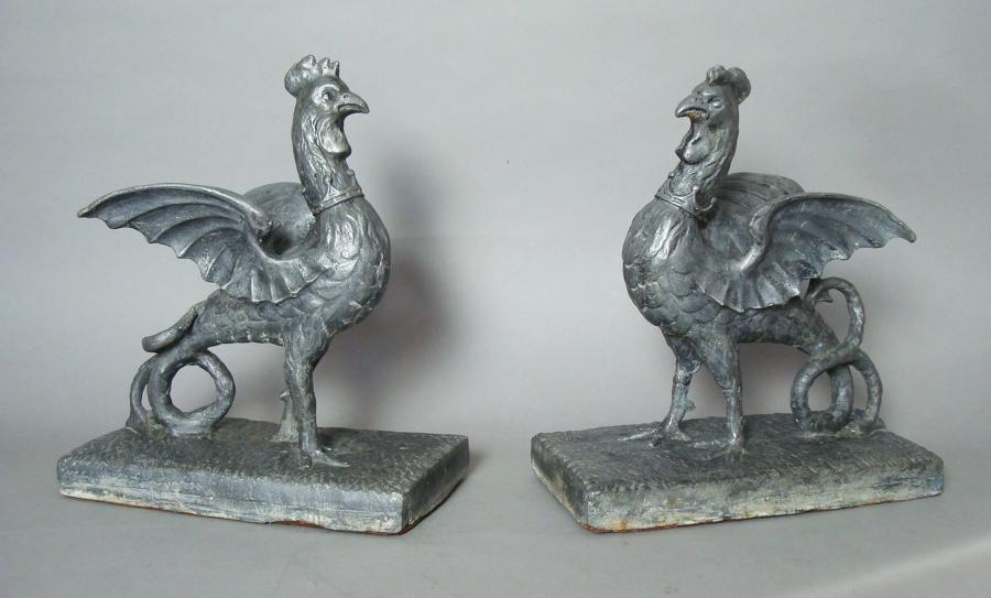 C18th pair of lead Cockertrice