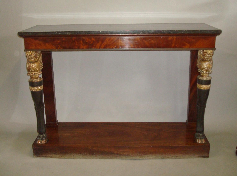 C19th mahogany console table