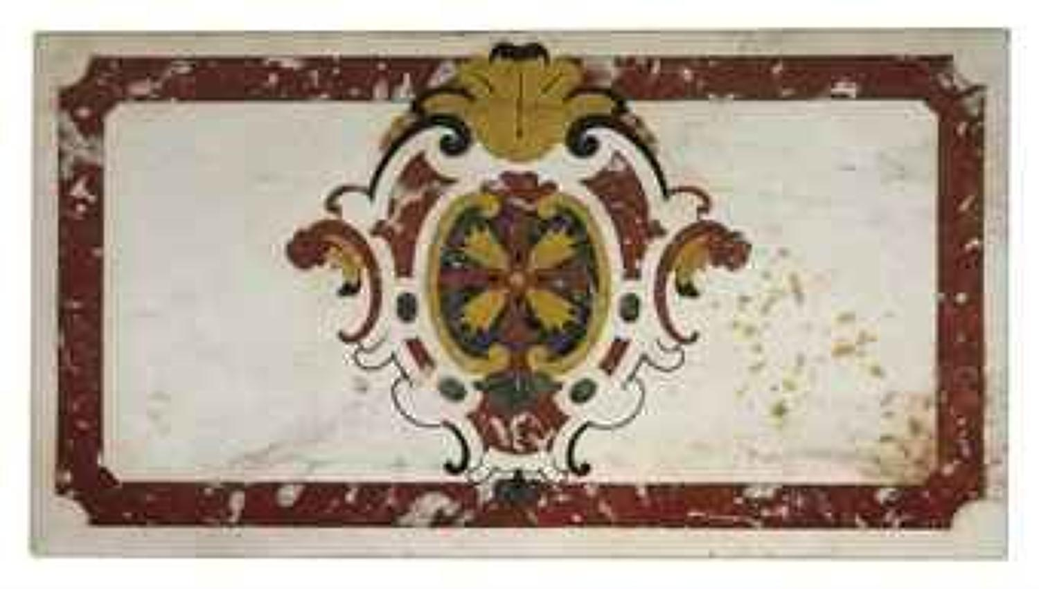 C18th Italian inlaid marble table top