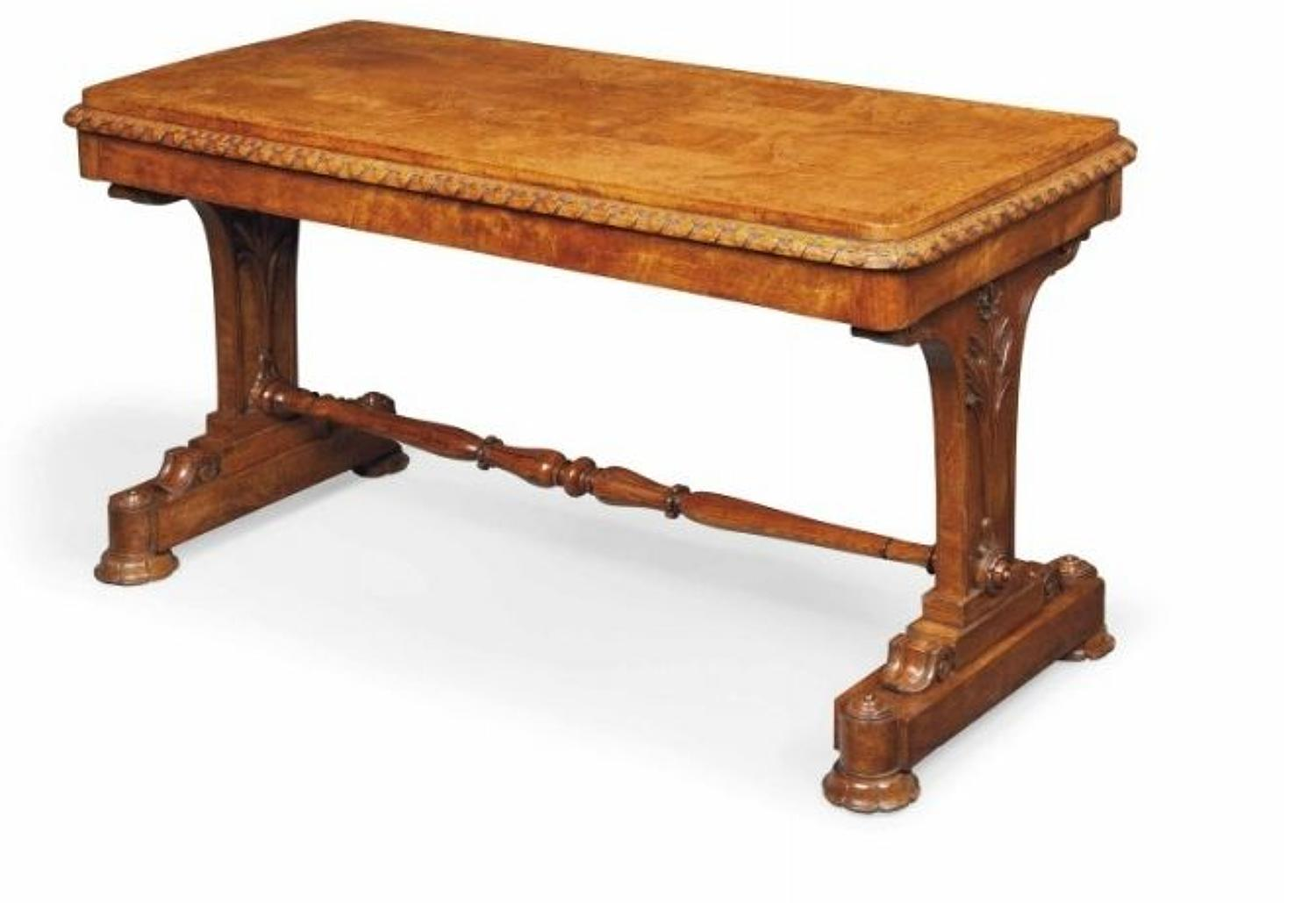 Geo IV figured oak centre table