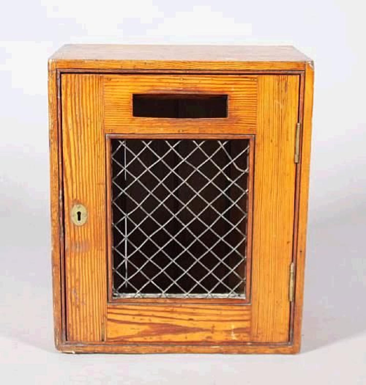 C19th pitch pine post box