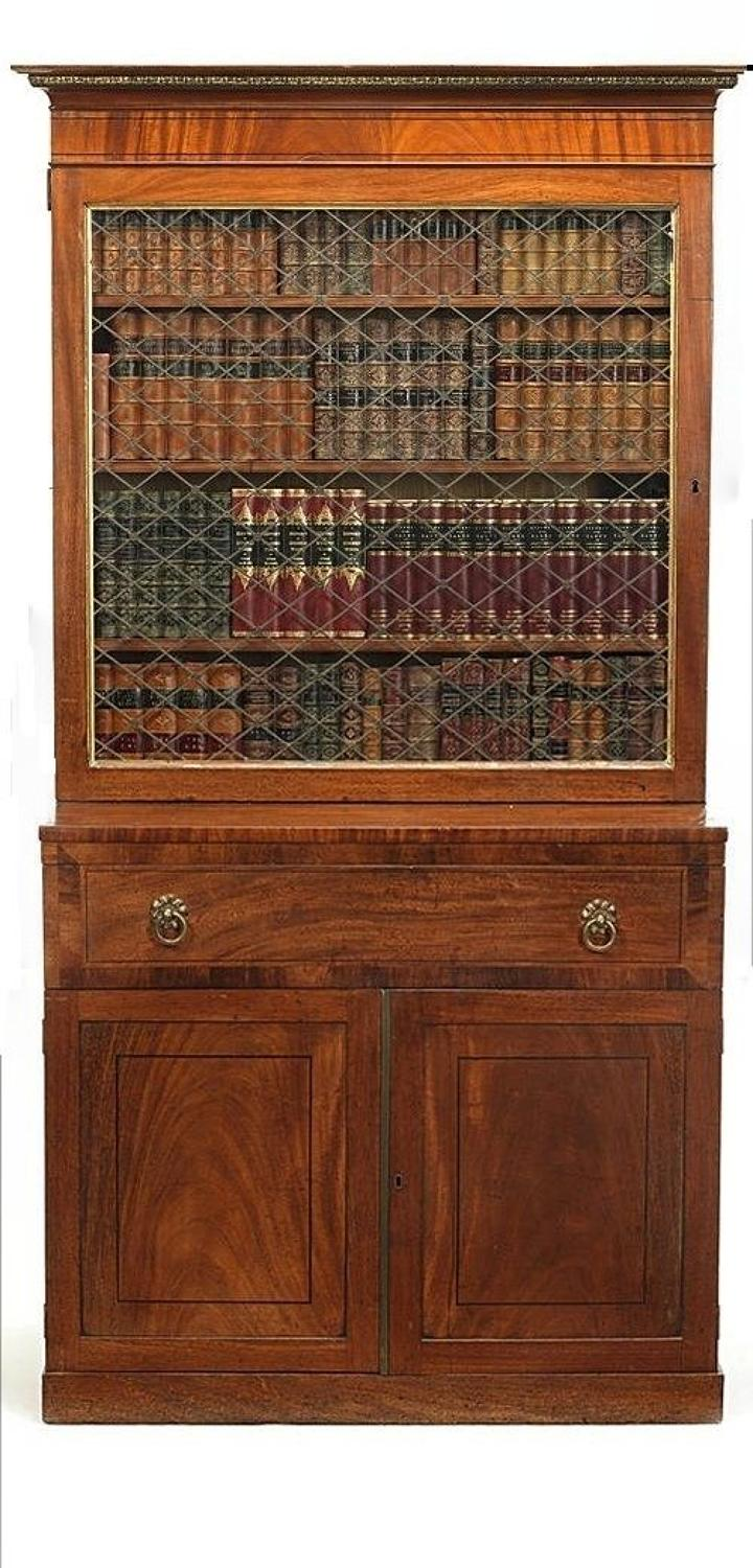 Regency flame mahogany bookcase