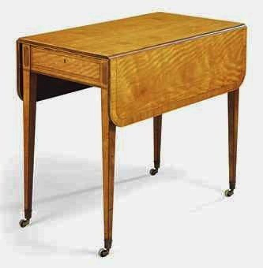 Geo III satinwood pembroke table