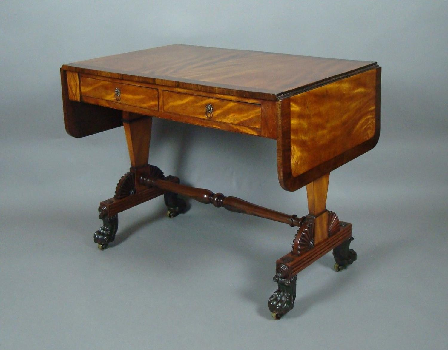 Regency Satin and Rosewood Sofa Table
