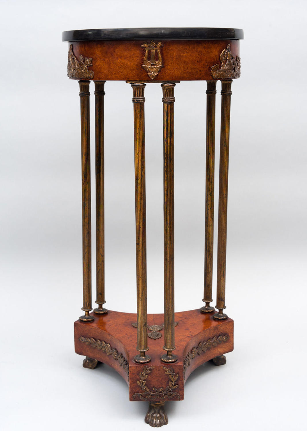 C19th french burr elm gueridon