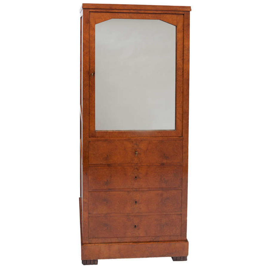 C19th North European amboyna bookcase