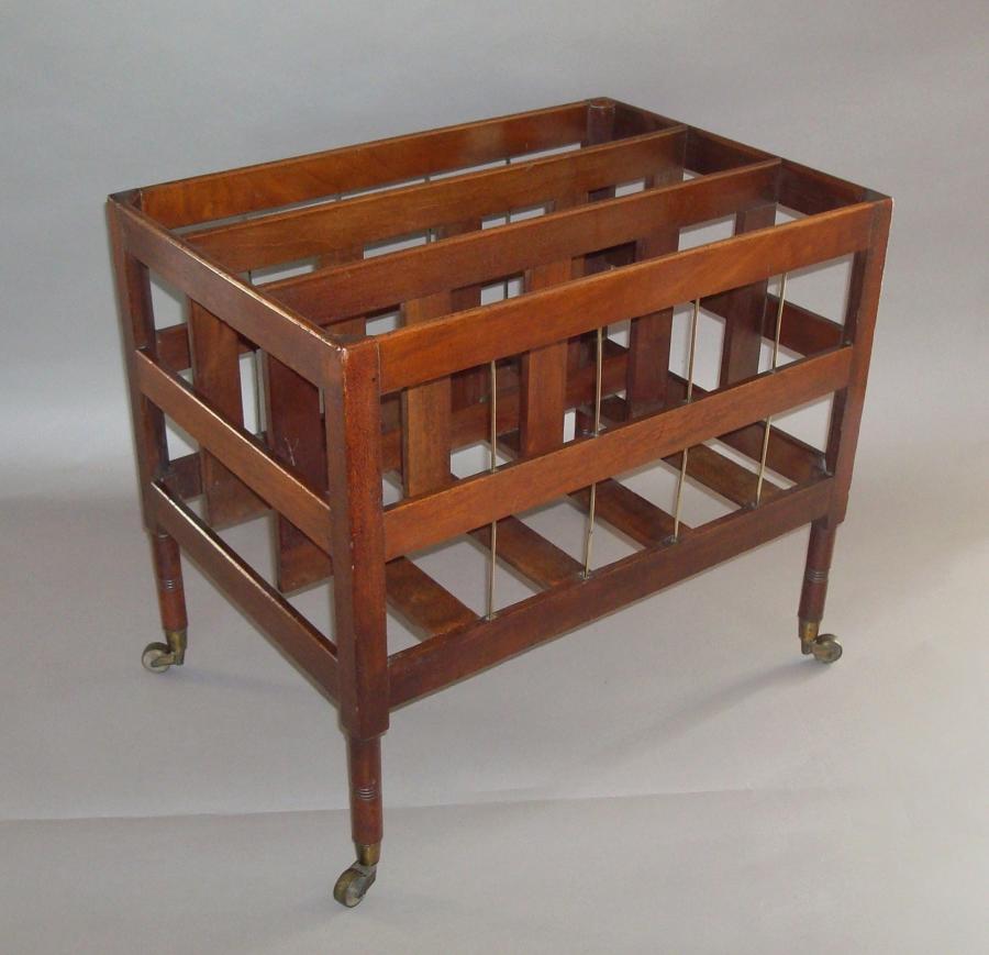 Regency mahogany canterbury
