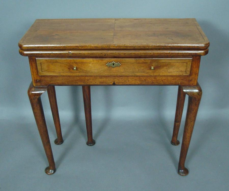 George I walnut card table