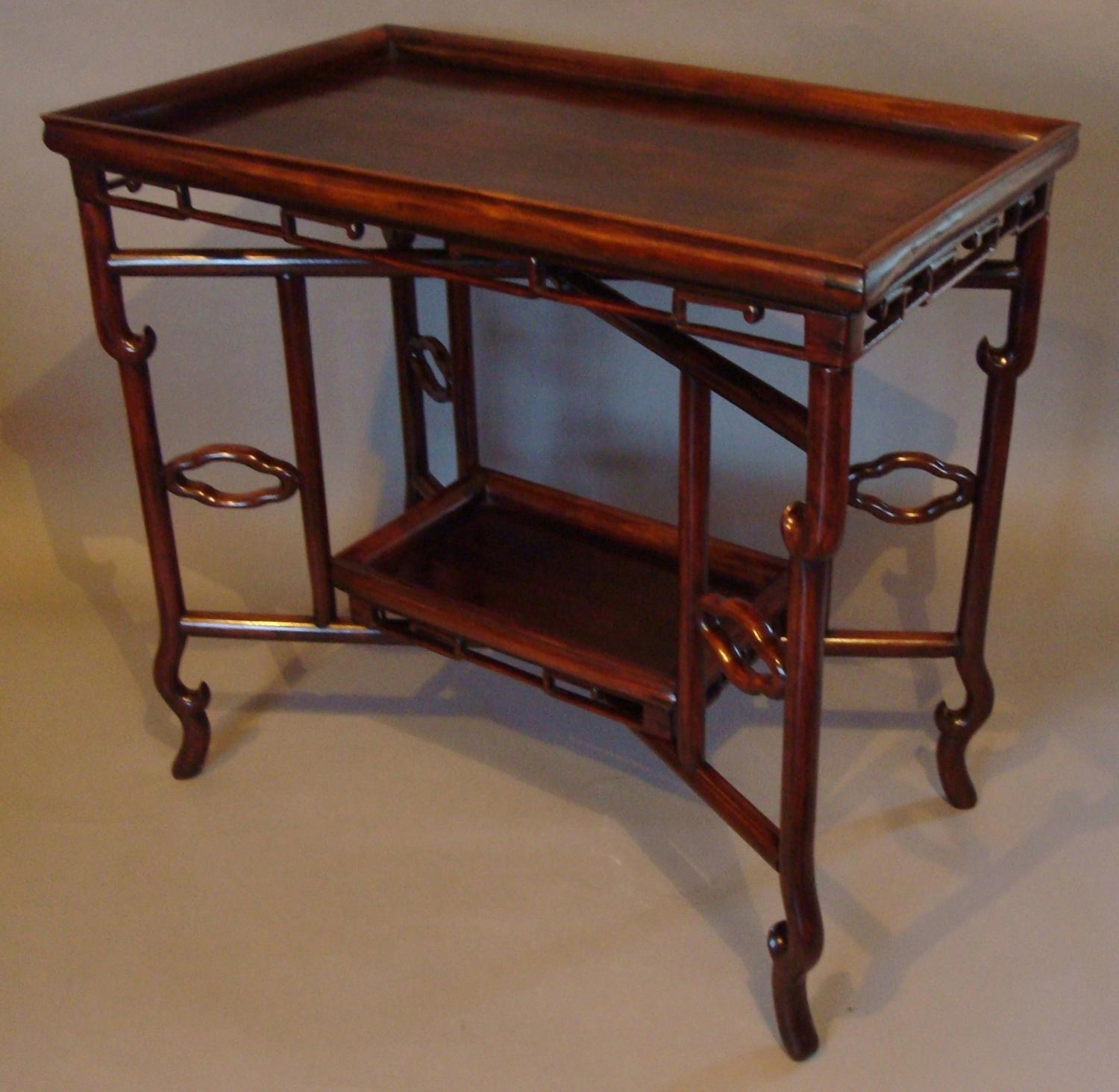 C19th Chinese Hongmu tray table