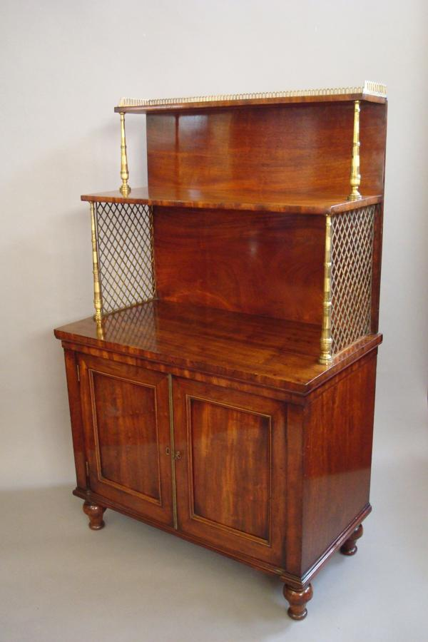 Regency mahogany dwarf bookcase