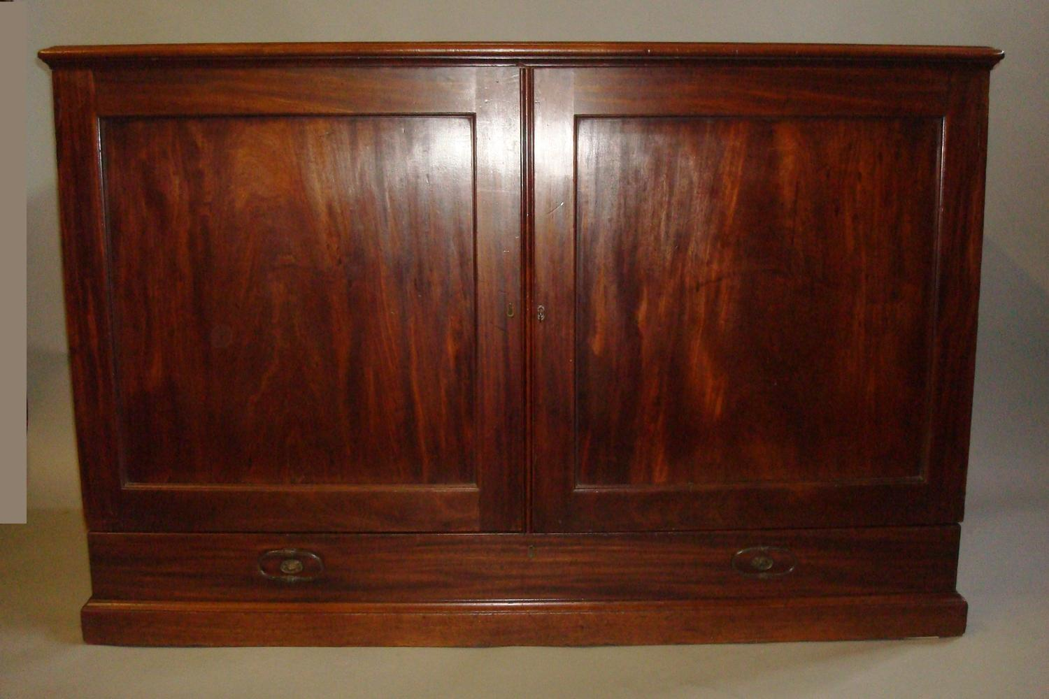 George III mahogany Gillows folio cabinet