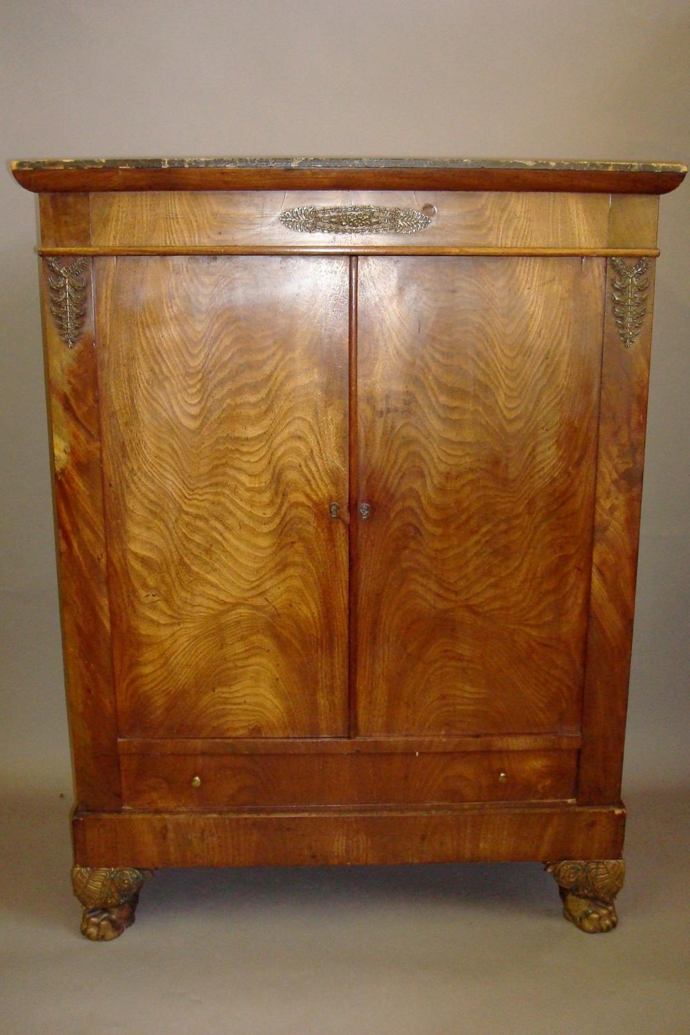 C19th mahogany side cabinet