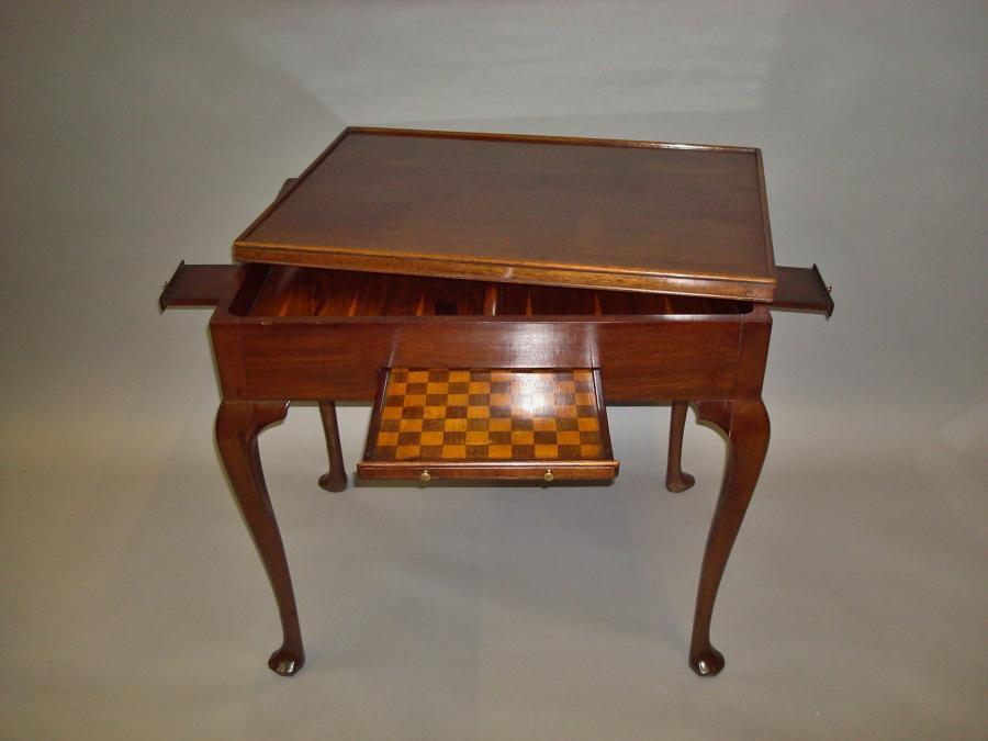 Georgian mahogany Irish games table