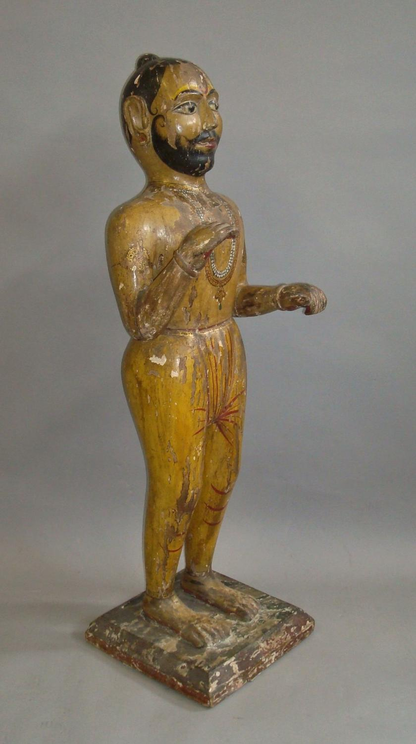 19th century carved Indian figure