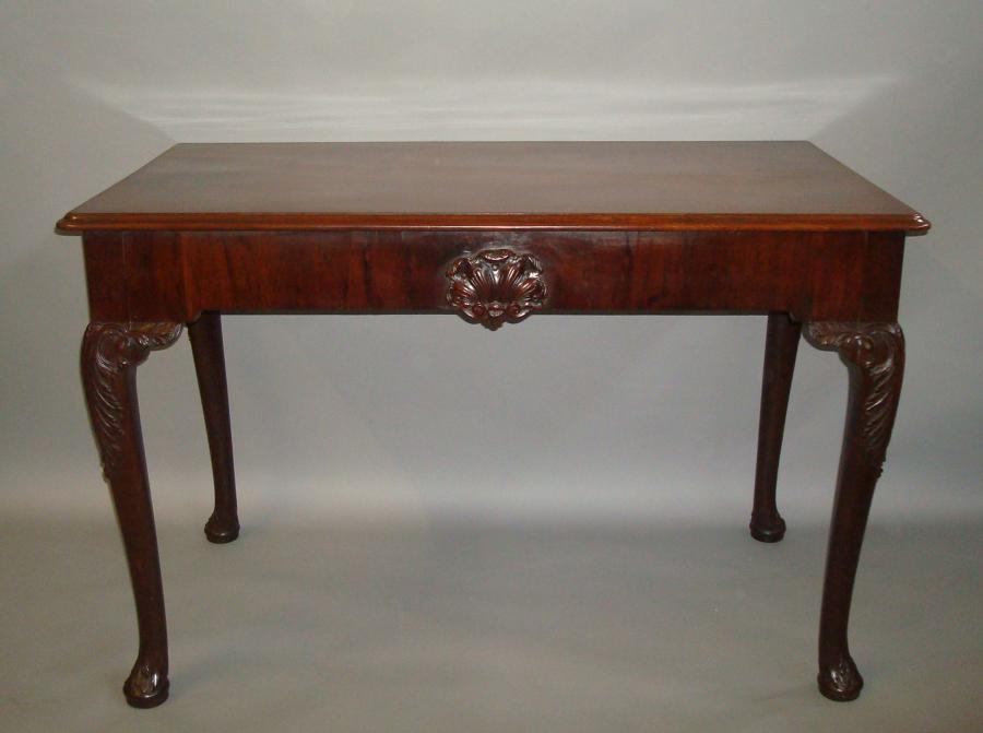 Georgian Irish mahogany side table
