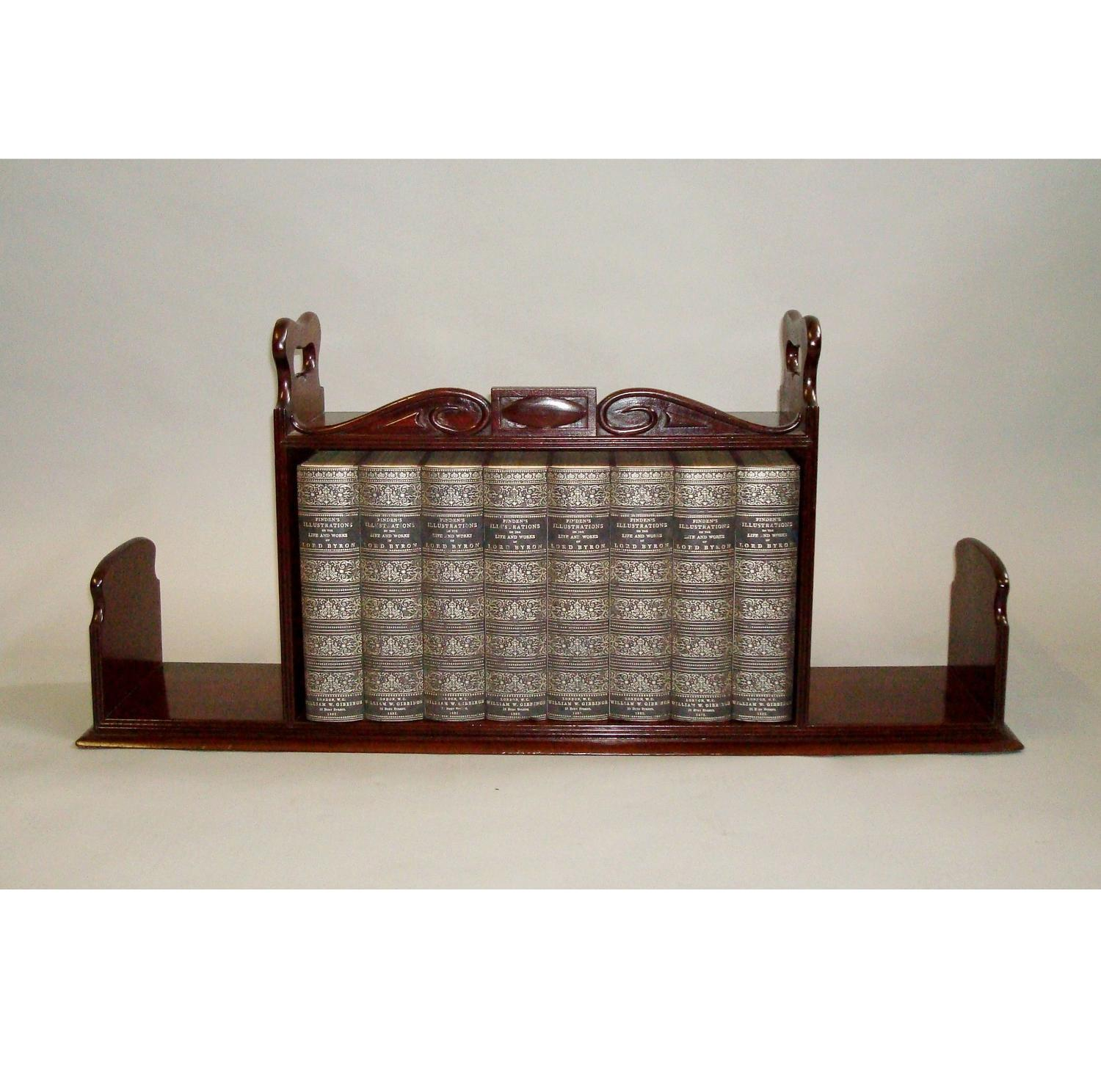 Regency mahogany book carrier