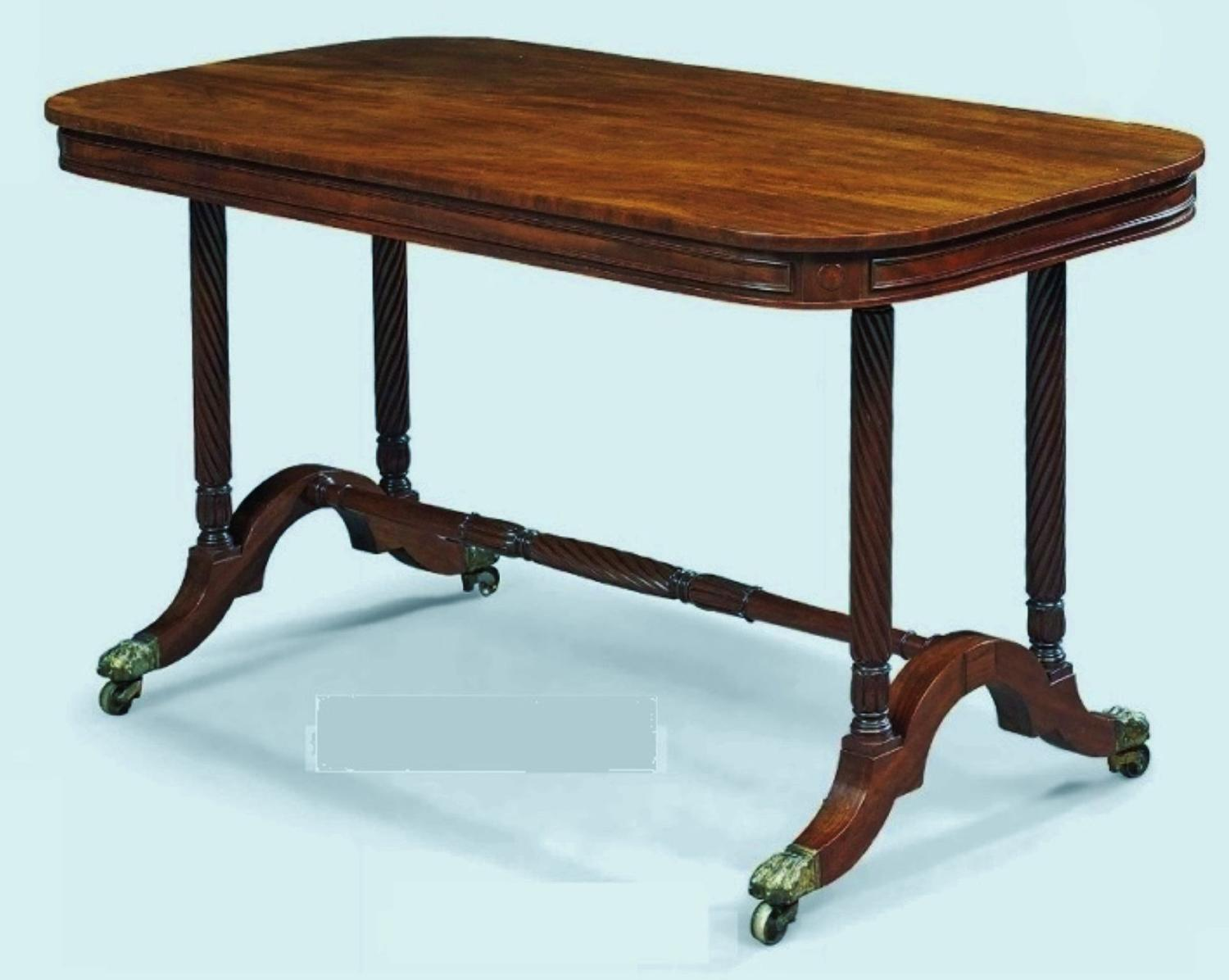Regency mahogany centre table