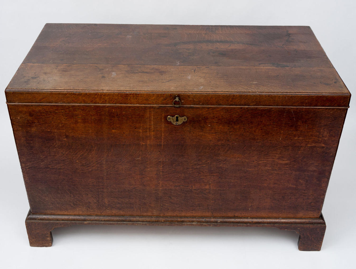 George II country house oak silver chest