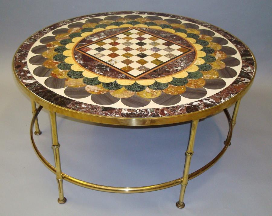 C19th specimen marble coffee table