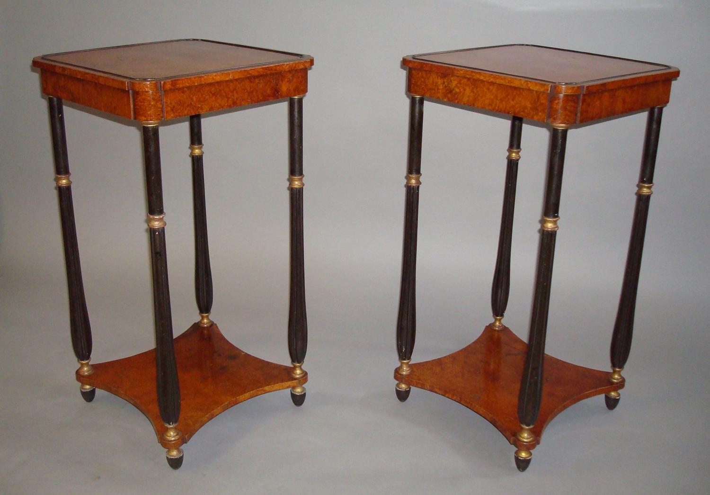 Regency amboyna occasional tables