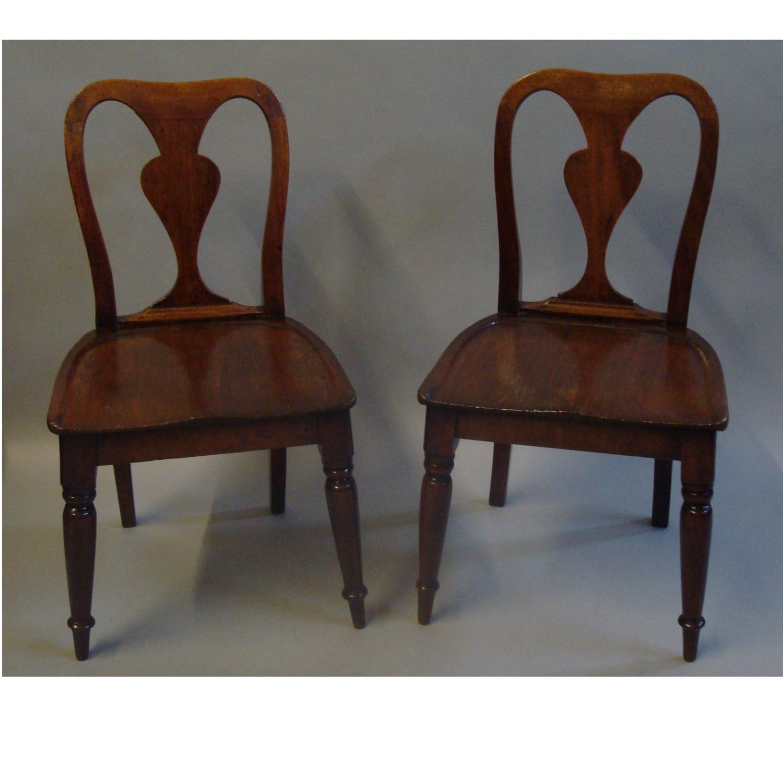 George III mahogany child's chairs
