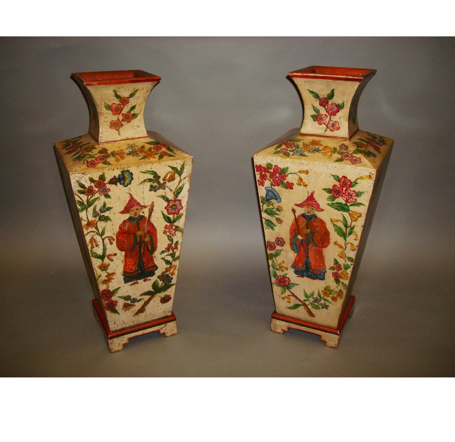C20th decorative pair of large vases