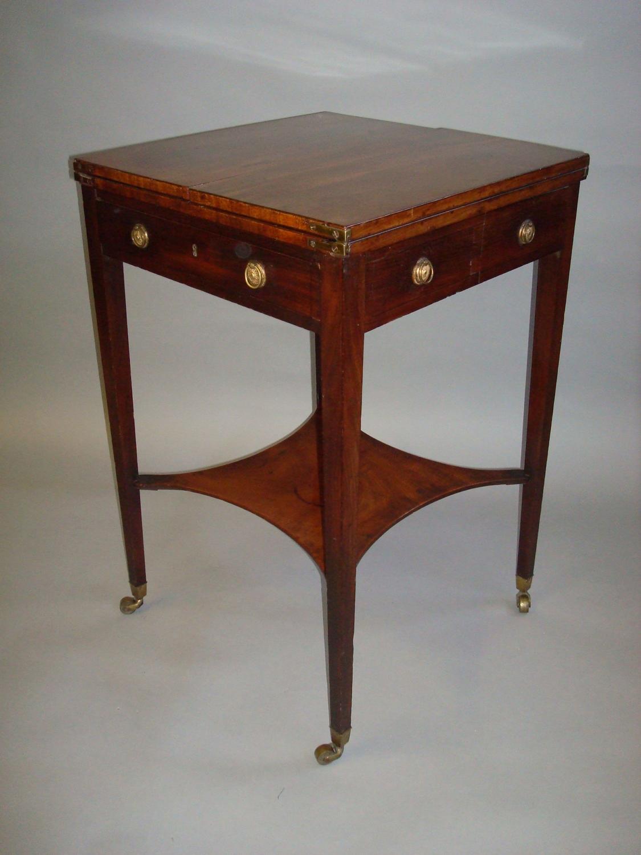 George III mahogany patience table