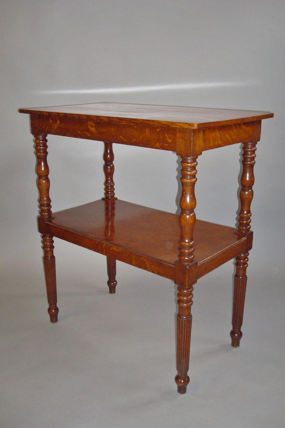 Regency oak two tier etagere
