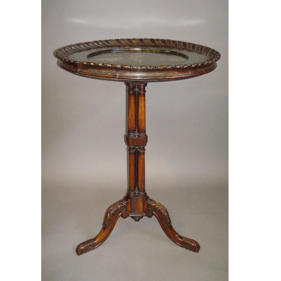 Regency tripod occasional table