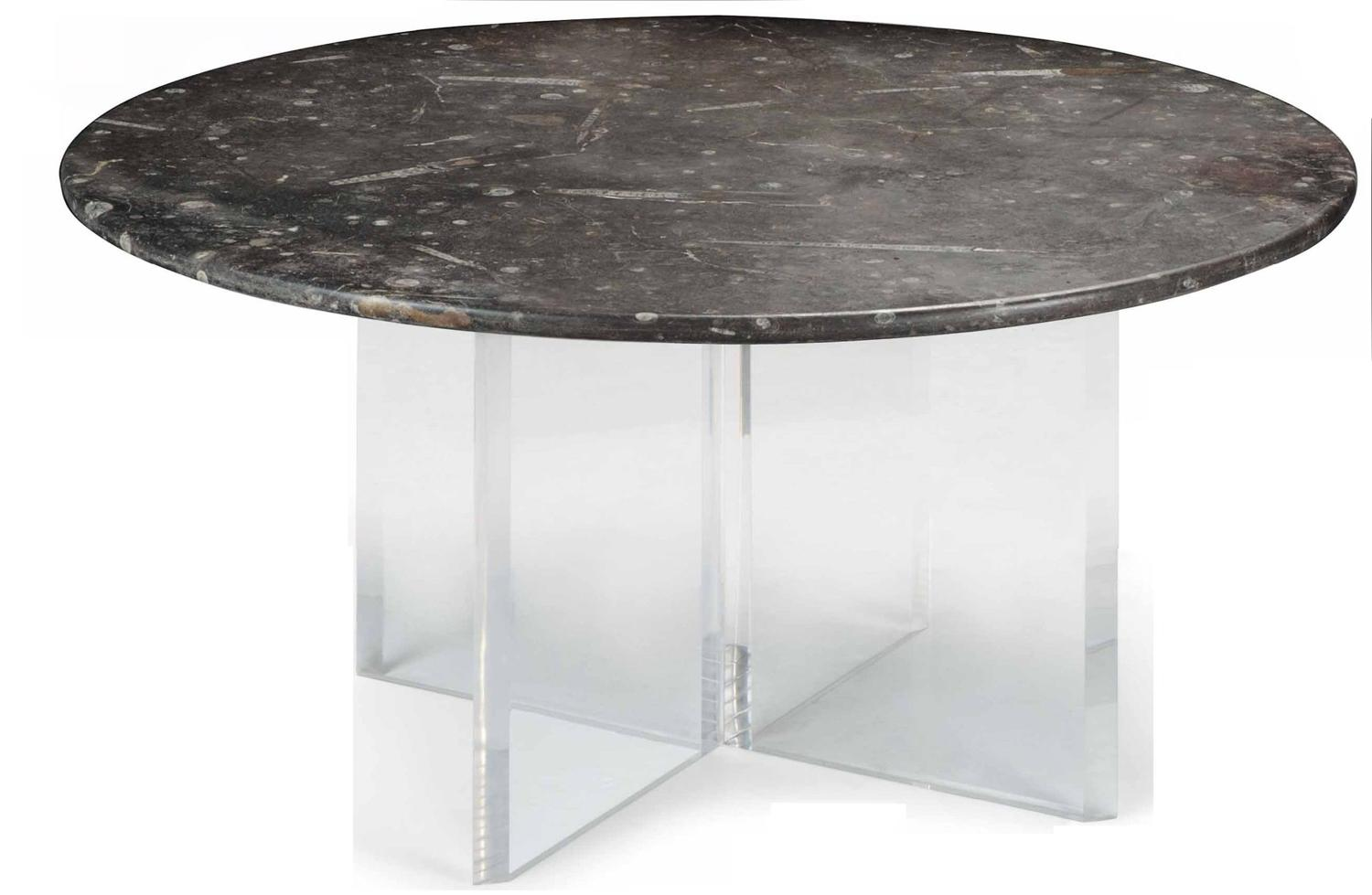 C19th marble table top