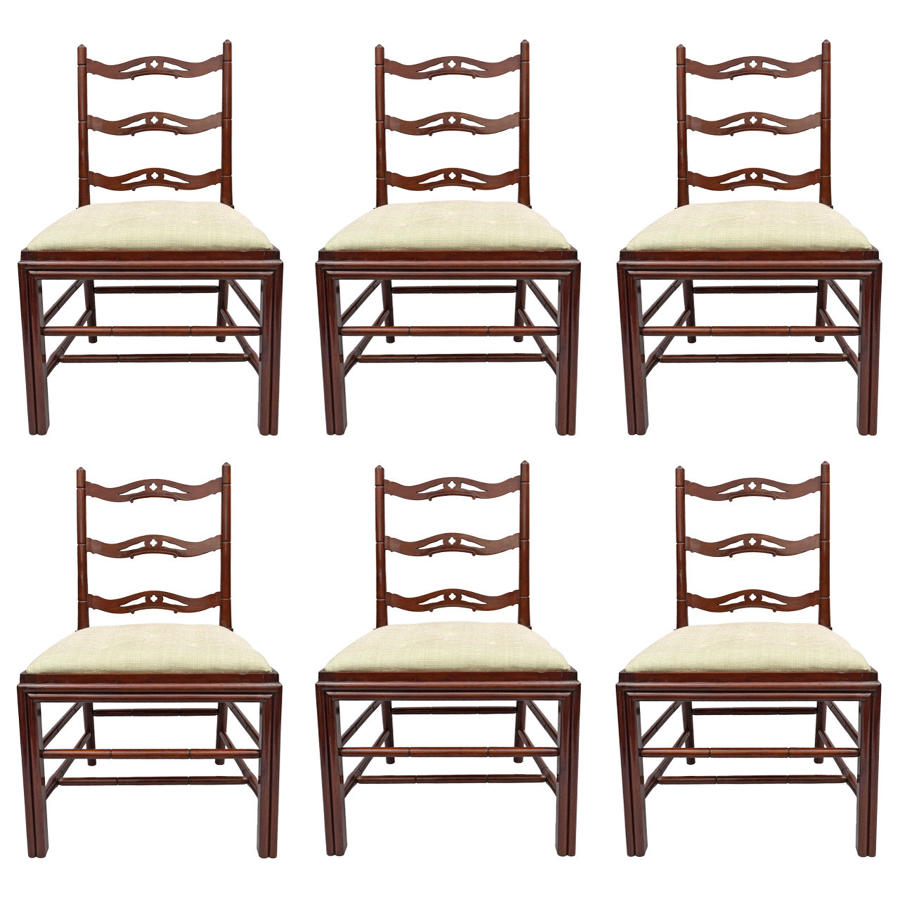 Geo III set of 6 mahogany Gillows dining chairs