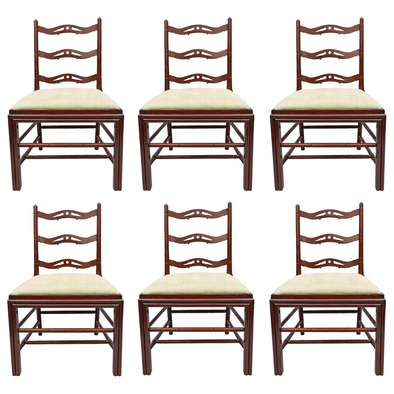 Geo III set of 6 mahogany Gillows dining chairs