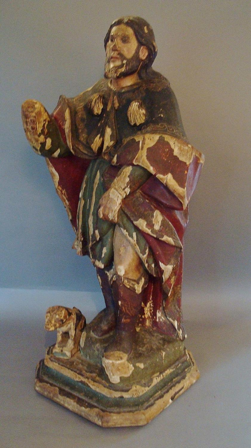 C18th statue of Saint Roch