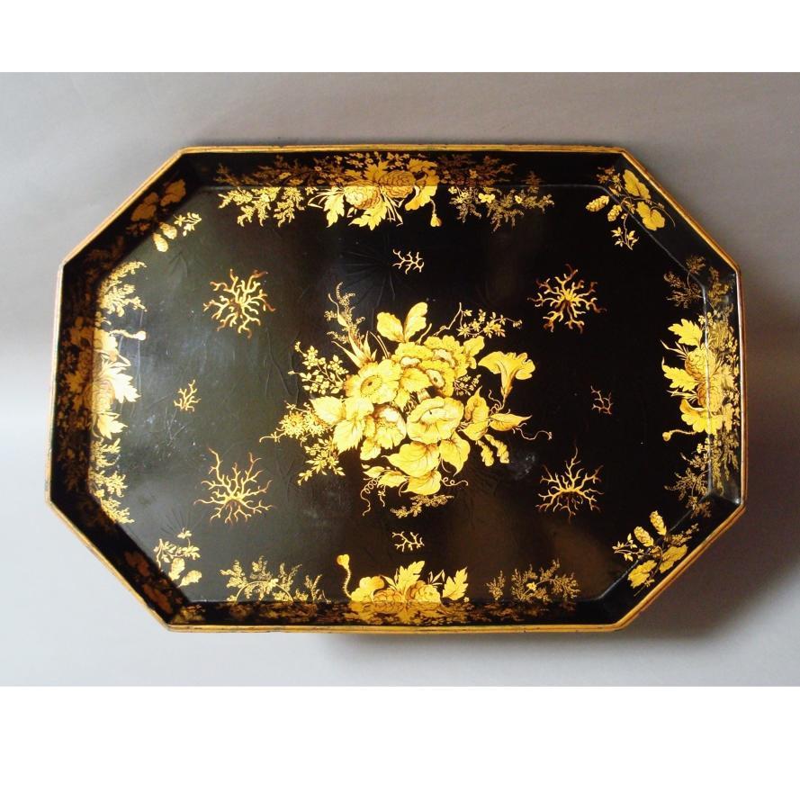 Regency papier mache tray